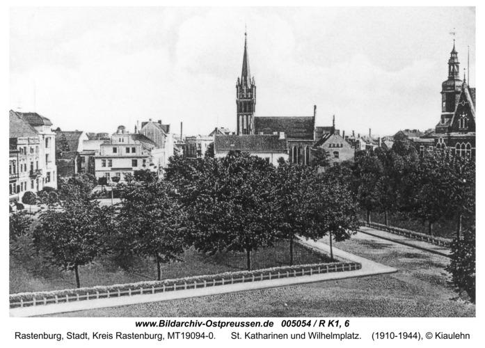 Rastenburg, St. Katharinen und Wilhelmplatz
