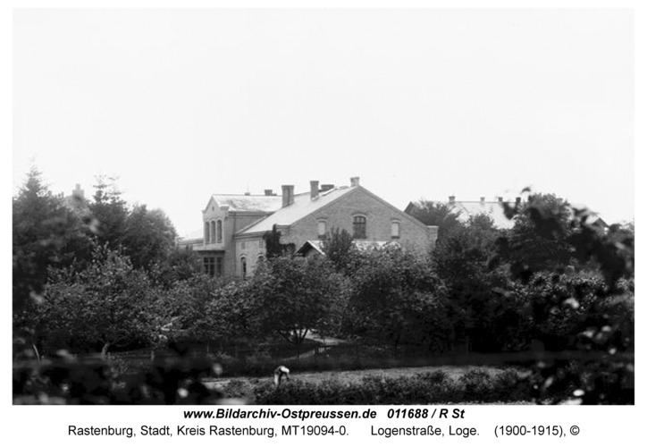 Rastenburg, Logenstraße, Freimauerloge