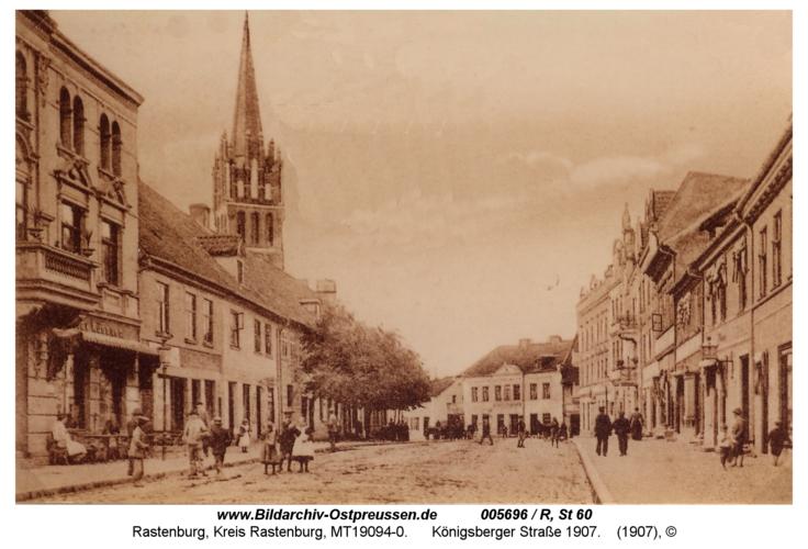 Rastenburg, Königsberger Straße 1907