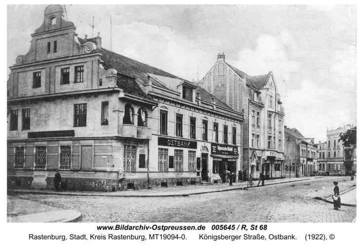 Rastenburg, Königsberger Straße, Ostbank