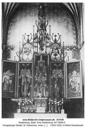 Rastenburg, Königsberger Straße, St. Katharinen, innen, Altar