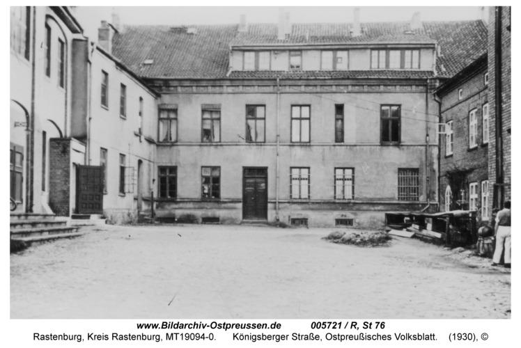 Rastenburg, Königsberger Straße, altes Kolmarhaus
