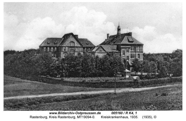 Rastenburg, Stiftstraße, Kreiskrankenhaus, 1935