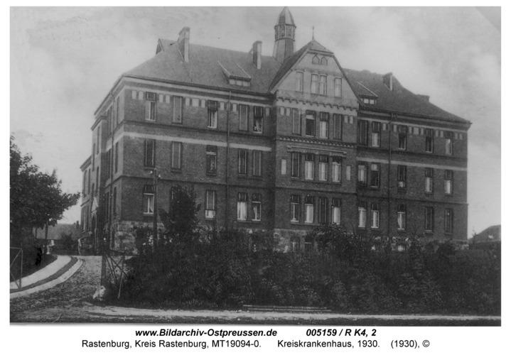 Rastenburg, Stiftstraße, Kreiskrankenhaus, 1930