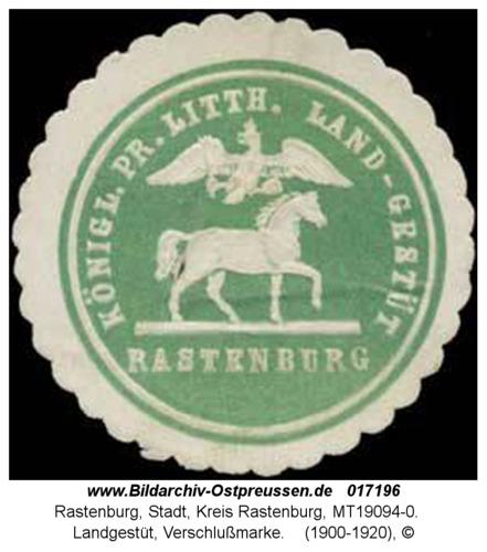 Rastenburg, Landgestüt, Verschlußmarke