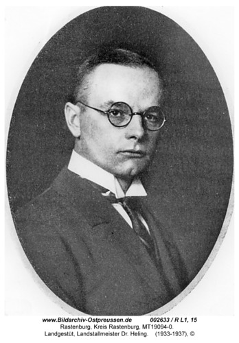Rastenburg, Landgestüt, Landstallmeister Dr. Heling