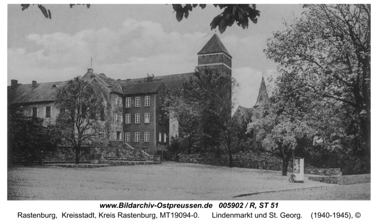Rastenburg, Lindenmarkt und St. Georg