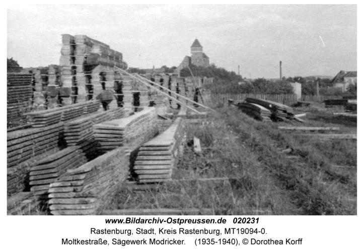Rastenburg, Moltkestraße, Sägewerk Modricker