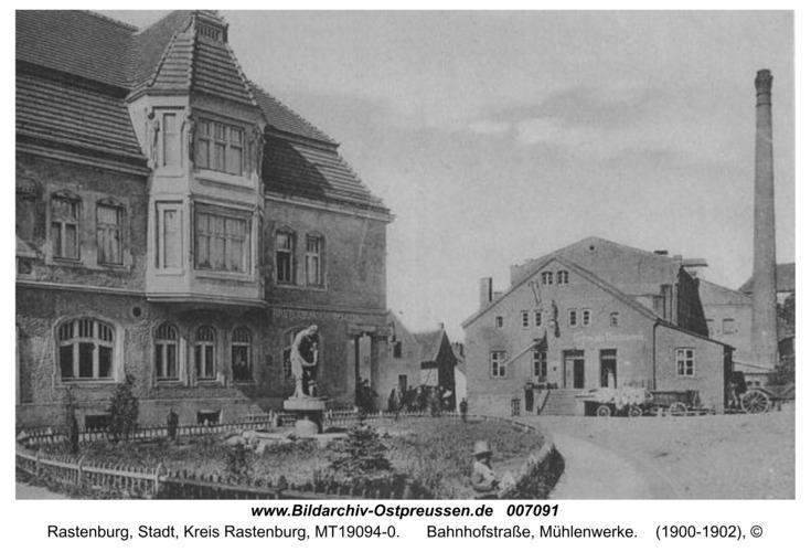 Rastenburg, Bahnhofstraße, Mühlenwerke