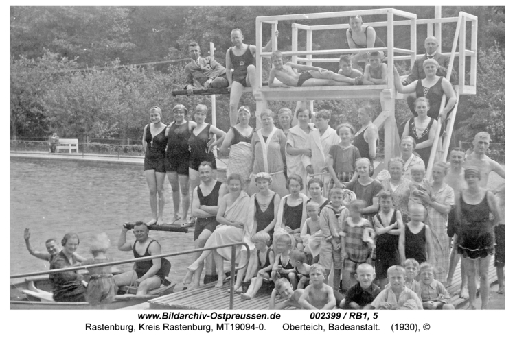Rastenburg, Oberteich, Badeanstalt