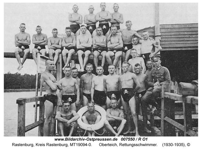 Rastenburg, Oberteich, Rettungsschwimmer