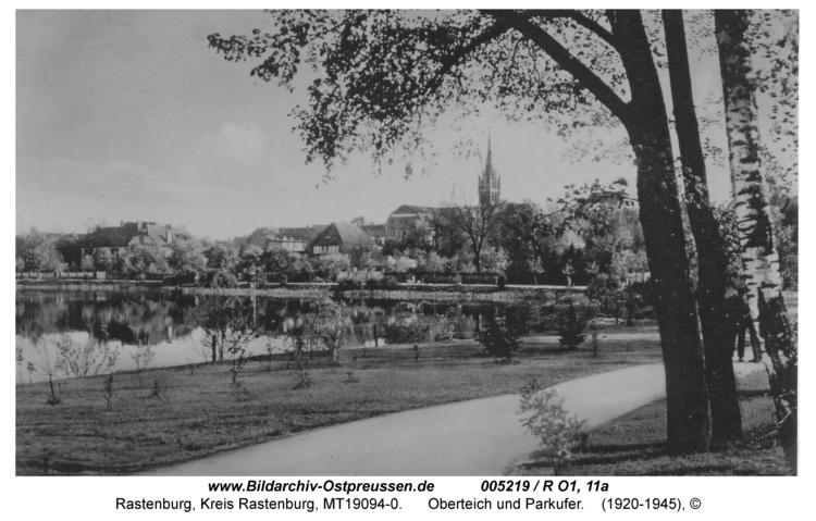 Rastenburg, Oberteich und Parkufer