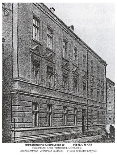 Rastenburg, Oberteichstraße, Wohnhaus Duddeck