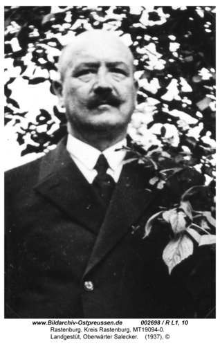 Rastenburg, Landgestüt, Oberwärter Salecker