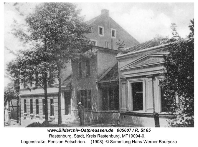 Rastenburg, Logenstraße, Pension Fetschrien