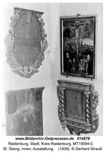 Rastenburg, St. Georg, innen, Ausstattung