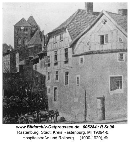 Rastenburg, Hospitalstraße und Rollberg