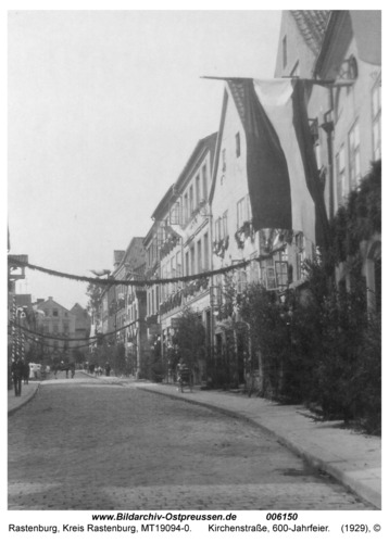 Rastenburg, Kirchenstraße, 600-Jahrfeier