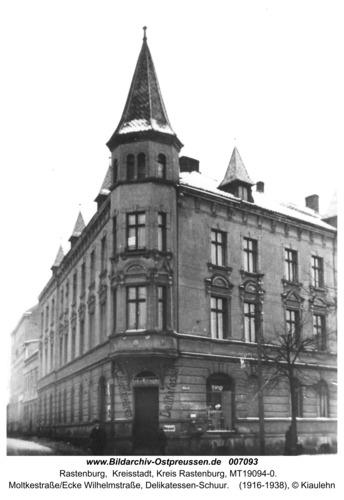 Rastenburg, Wilhelmstraße, Delikatessen-Schuur