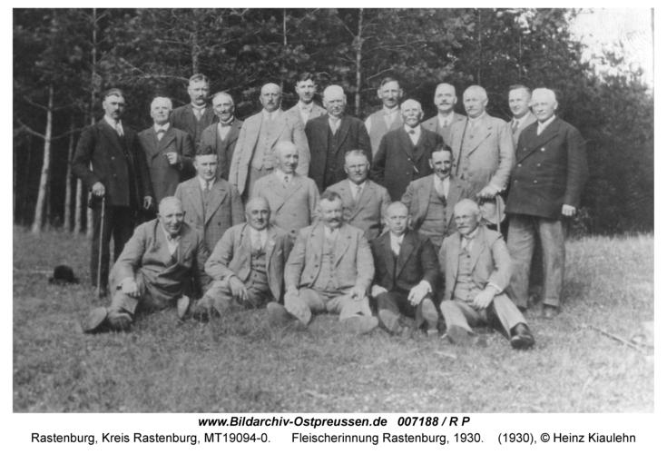 Rastenburg, Fleischerinnung Rastenburg, 1930