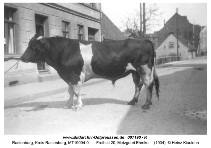 Rastenburg, Freiheit 20, Metzgerei Ehmke