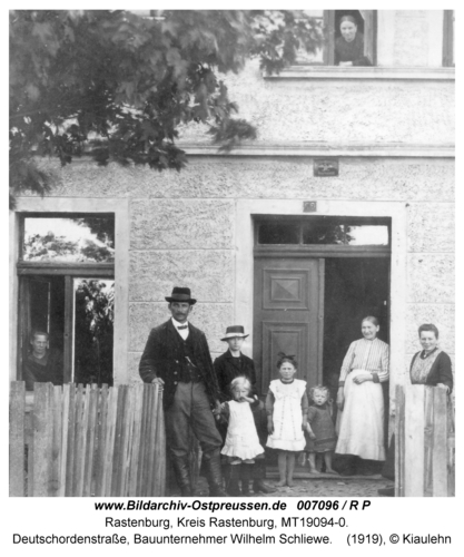 Rastenburg, Deutschordenstraße, Bauunternehmer Wilhelm Schliewe