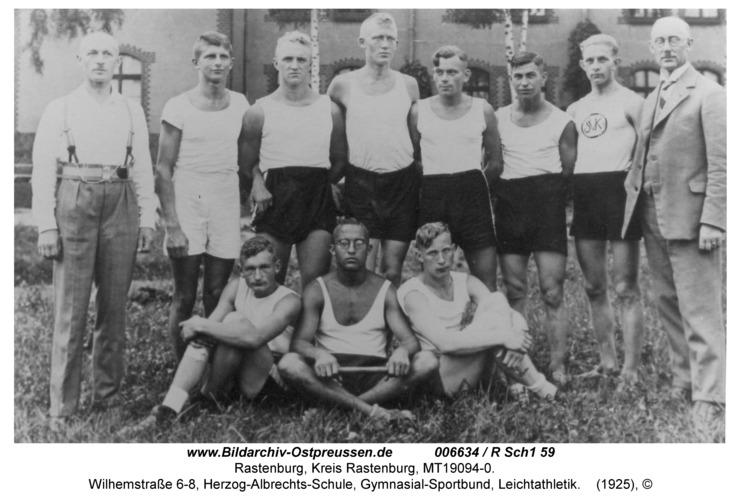 Rastenburg, Wilhemstraße 6-8, Herzog-Albrechts-Schule, Gymnasial-Sportbund, Leichtathletik