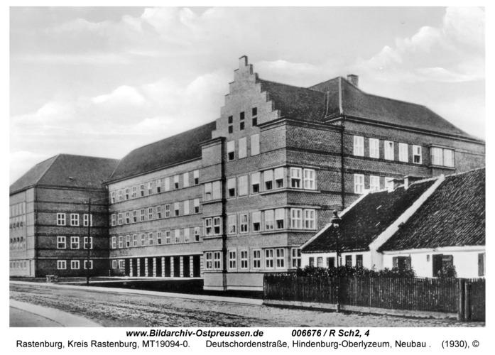 Rastenburg, Deutschordenstraße, Hindenburg-Oberlyzeum, Neubau