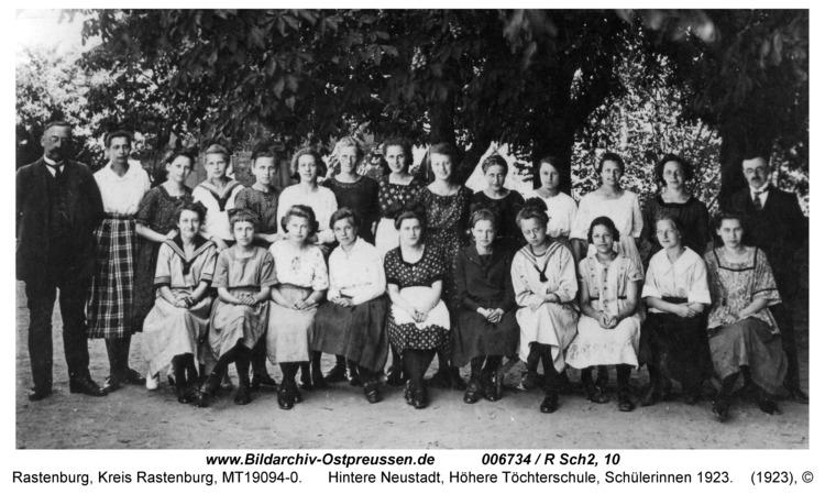 Rastenburg, Hintere Neustadt, Höhere Töchterschule, Schülerinnen 1923