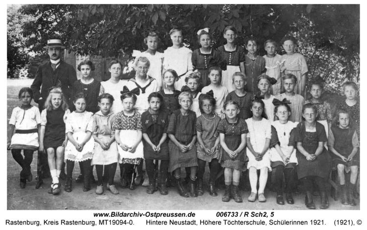 Rastenburg, Hintere Neustadt, Höhere Töchterschule, Schülerinnen 1921