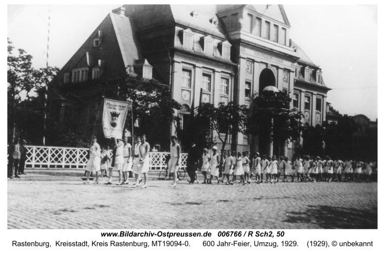Rastenburg, Hintere Neustadt, Höhere Töchterschule, 600 Jahr-Feier, 1929
