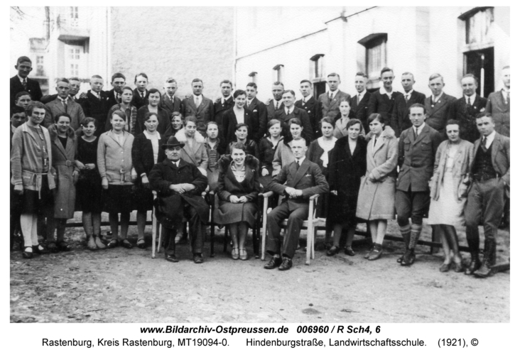 Rastenburg, Hindenburgstraße, Landwirtschaftsschule