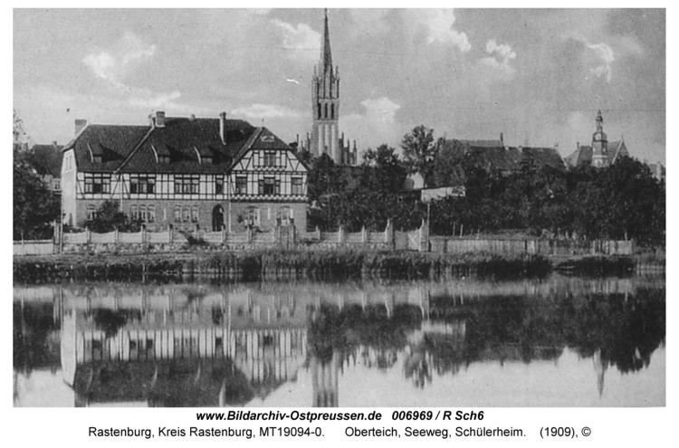 Rastenburg, Oberteich, Seeweg, Schülerheim