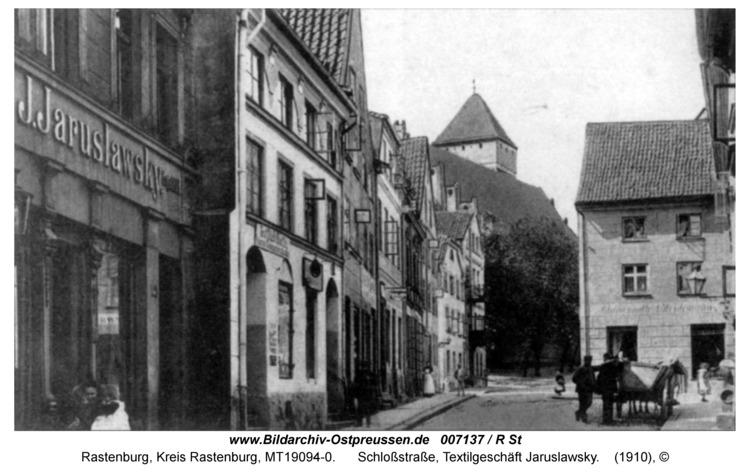 Rastenburg, Schloßstraße, Textilgeschäft Jaruslawsky