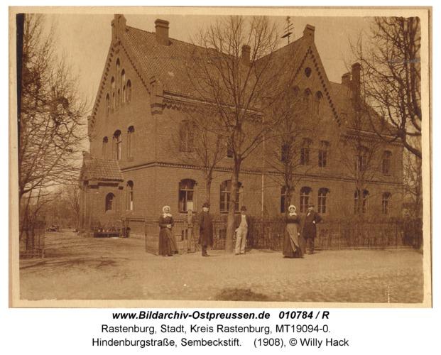 Rastenburg, Hindenburgstraße, Sembeckstift