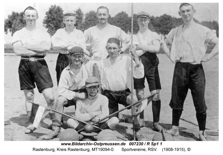 Rastenburg, Sportvereine, RSV, Mitbegründer 1908