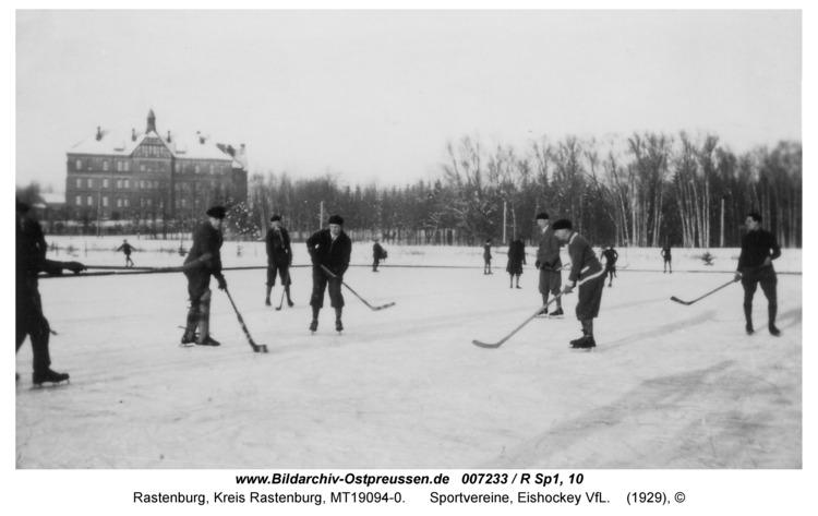 Rastenburg, Sportvereine, Eishockey VfL