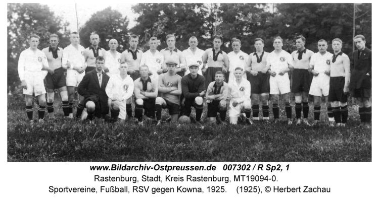 Rastenburg, Sportvereine, Fußball, RSV gegen Kowna, 1925
