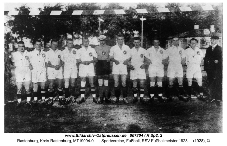 Rastenburg, Sportvereine, Fußball, RSV Fußballmeister 1928