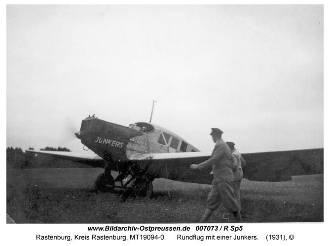 Rastenburg, Rundflug mit einer Junker