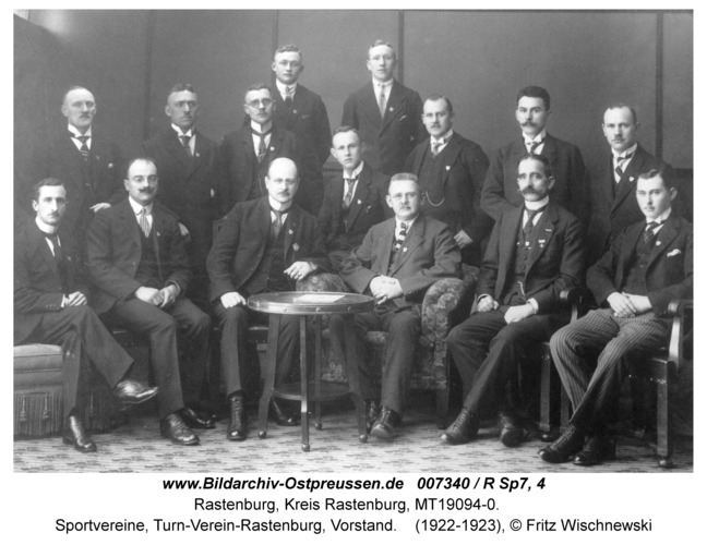Rastenburg, Sportvereine, Turn-Verein-Rastenburg, Vorstand