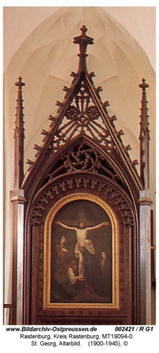 Rastenburg, St. Georg, innen, Altarbild