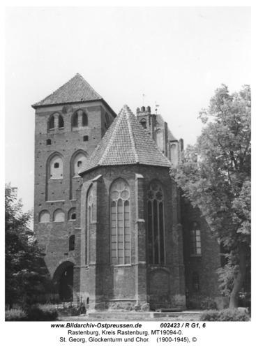Rastenburg, St. Georg, Glockenturm und Chor