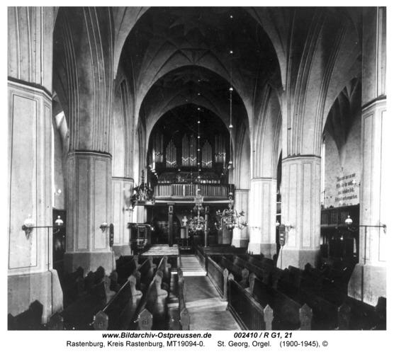 Rastenburg, St. Georg, innen, Orgel