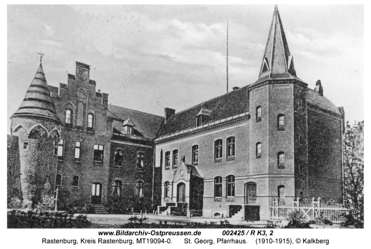 Rastenburg, St. Georg, Pfarrhaus