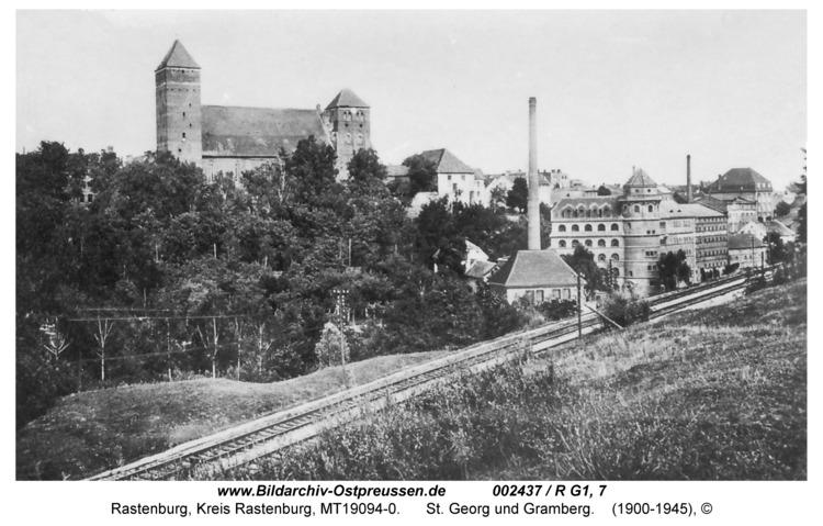 Rastenburg, St. Georg und Mühlenwerke