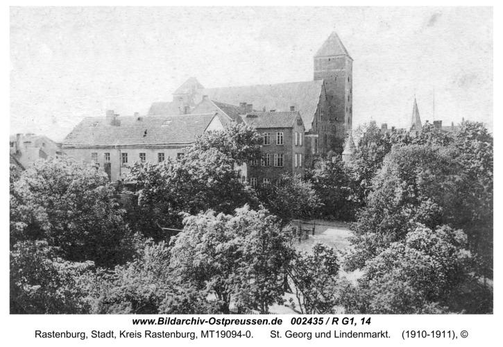 Rastenburg, St. Georg und Lindenmarkt