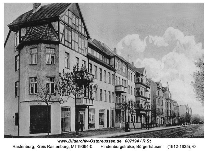 Rastenburg, Hindenburgstraße, Bürgerhäuser