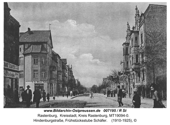 Rastenburg, Hindenburgstraße, Frühstücksstube Schäfer