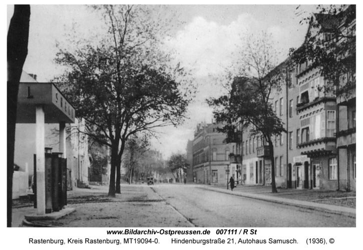 Rastenburg, Hindenburgstraße 21, Autohaus Samusch